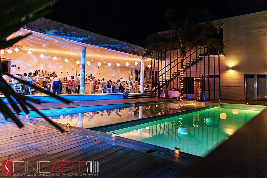 grand coral beach club wedding pool