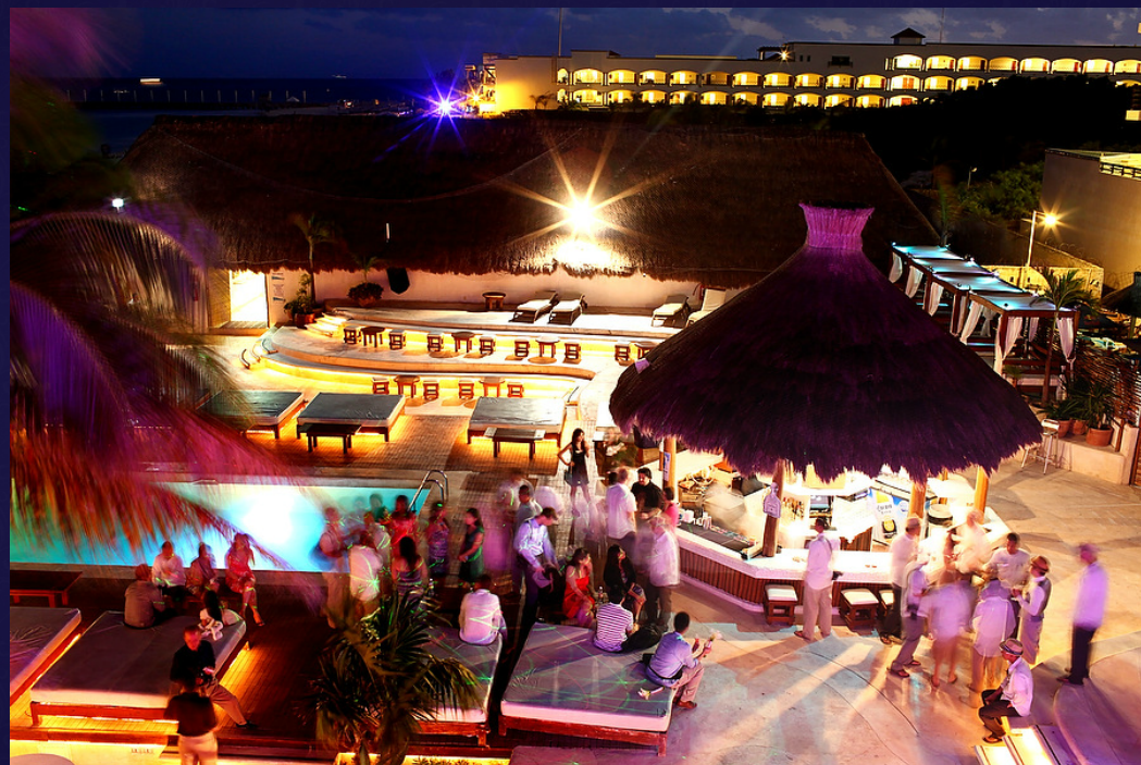 weddings in playa kool beach club night